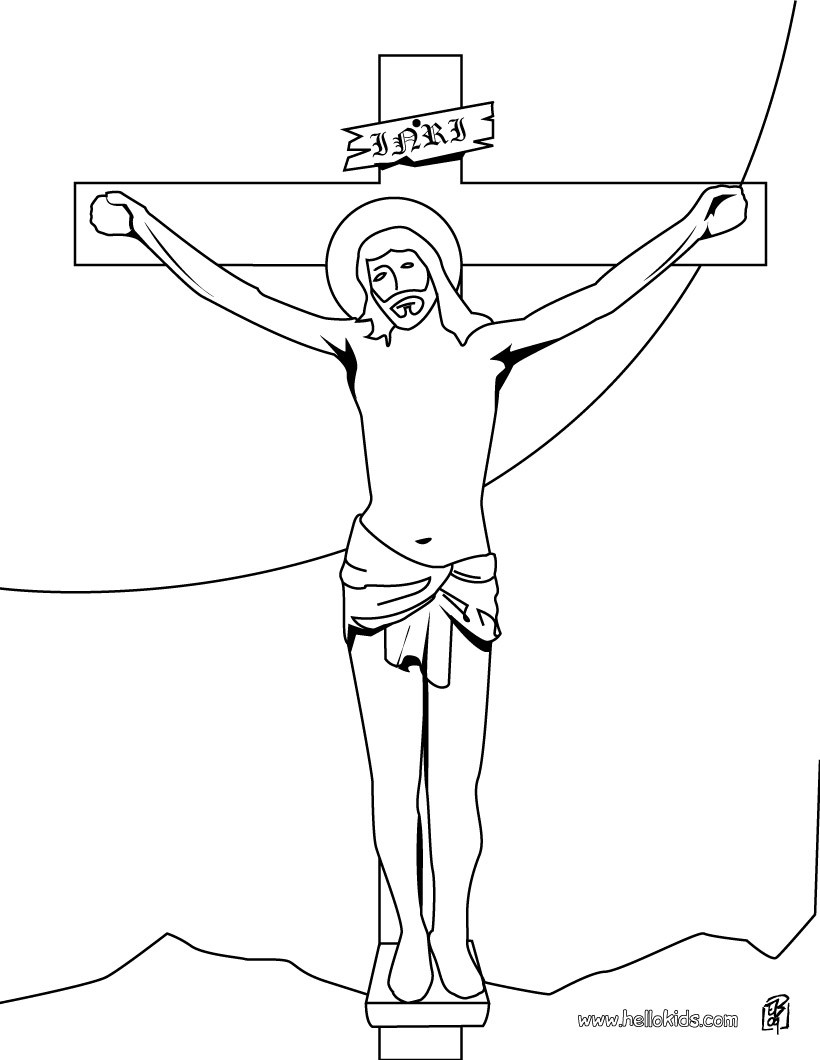 jesus on the coloring hellokids ntm dream maker language snowflake pictures to color coloring pages Jesus On The Cross Coloring Page