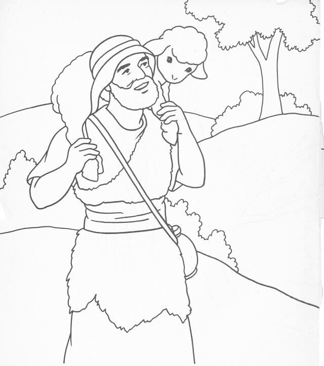 jesus the good shepherd colouring sunday school coloring bible crafts washable markers coloring pages The Good Shepherd Coloring Page