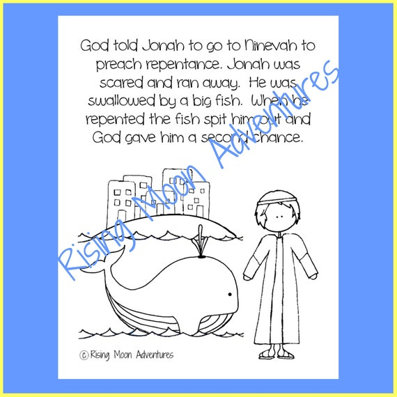 jonah and the whale coloring etsy repentance il 570xn 3bla fall printable witch sheet coloring pages Repentance Coloring Page