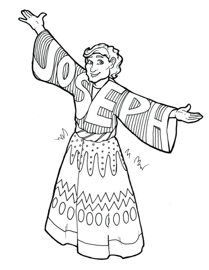 joseph and his coat of many colors coloring 800x crayola logo tracing light table games coloring pages Joseph Coat Coloring Page