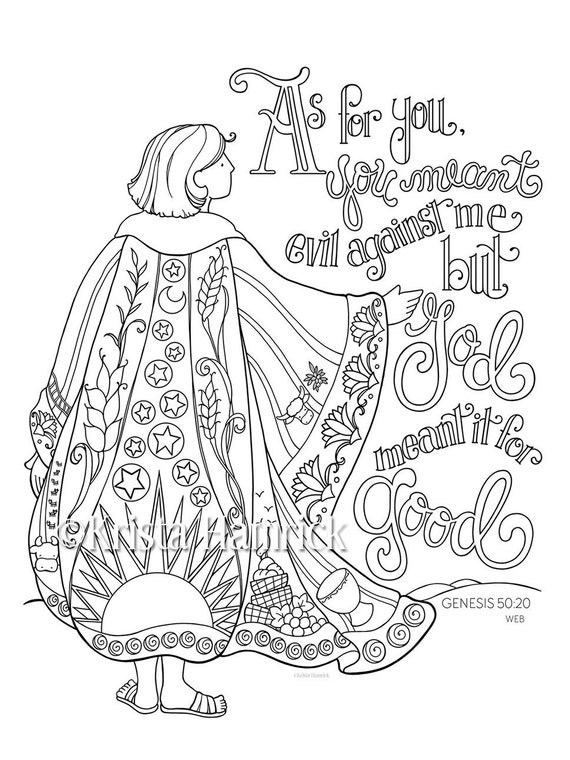 joseph coat of many colors coloring 5x11 bible etsy il 570xn jbhh book images chinese coloring pages Coat Of Many Colors Coloring Page