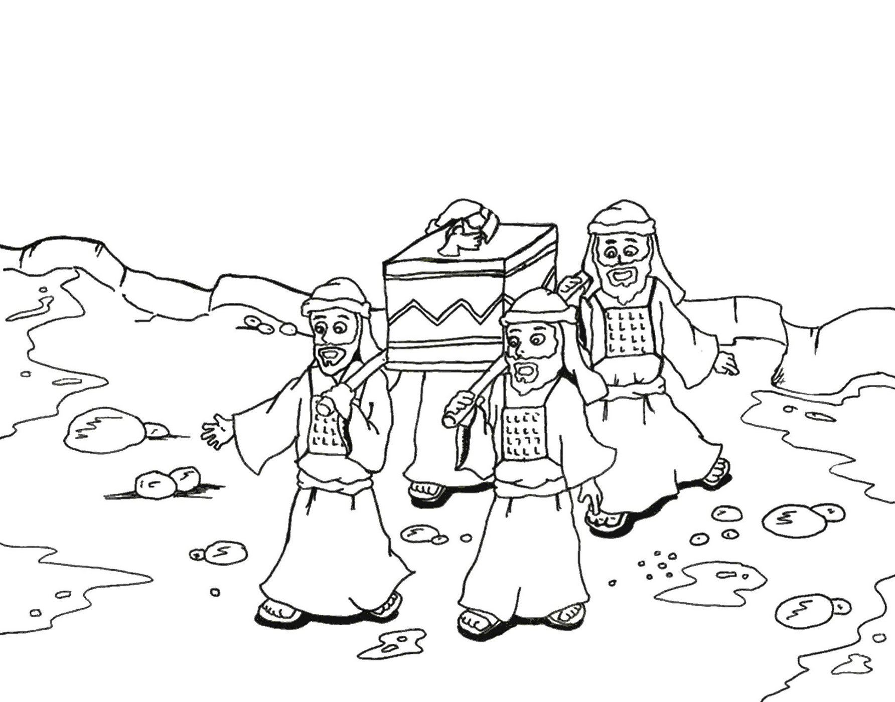 joshua coloring best for kids walls of jericho arc the covenant world book halloween coloring pages Walls Of Jericho Coloring Page