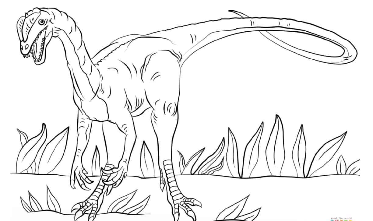 jurassic dilophosaurus coloring free printable keep toddlers busy screen shot at am coloring pages Dilophosaurus Coloring Page