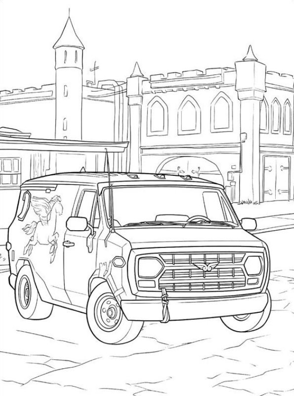 kids fun coloring onward guinevere van disney belle book thanksgiving sign colors you ve coloring pages Van Coloring Page