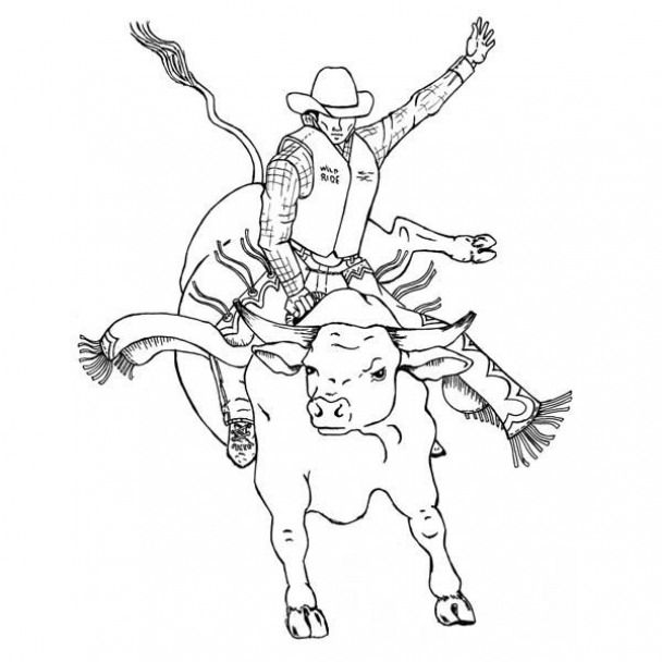 kidswoodcrafts leather tooling patterns cowboy artists coloring bull rider shark babies coloring pages Bull Rider Coloring Page
