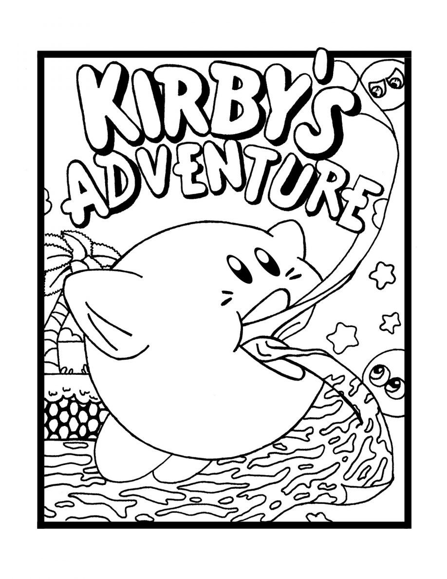 kirbys adventure colouring clip art library kirby coloring rtdrpbrlc small easter egg coloring pages Kirby Coloring Page