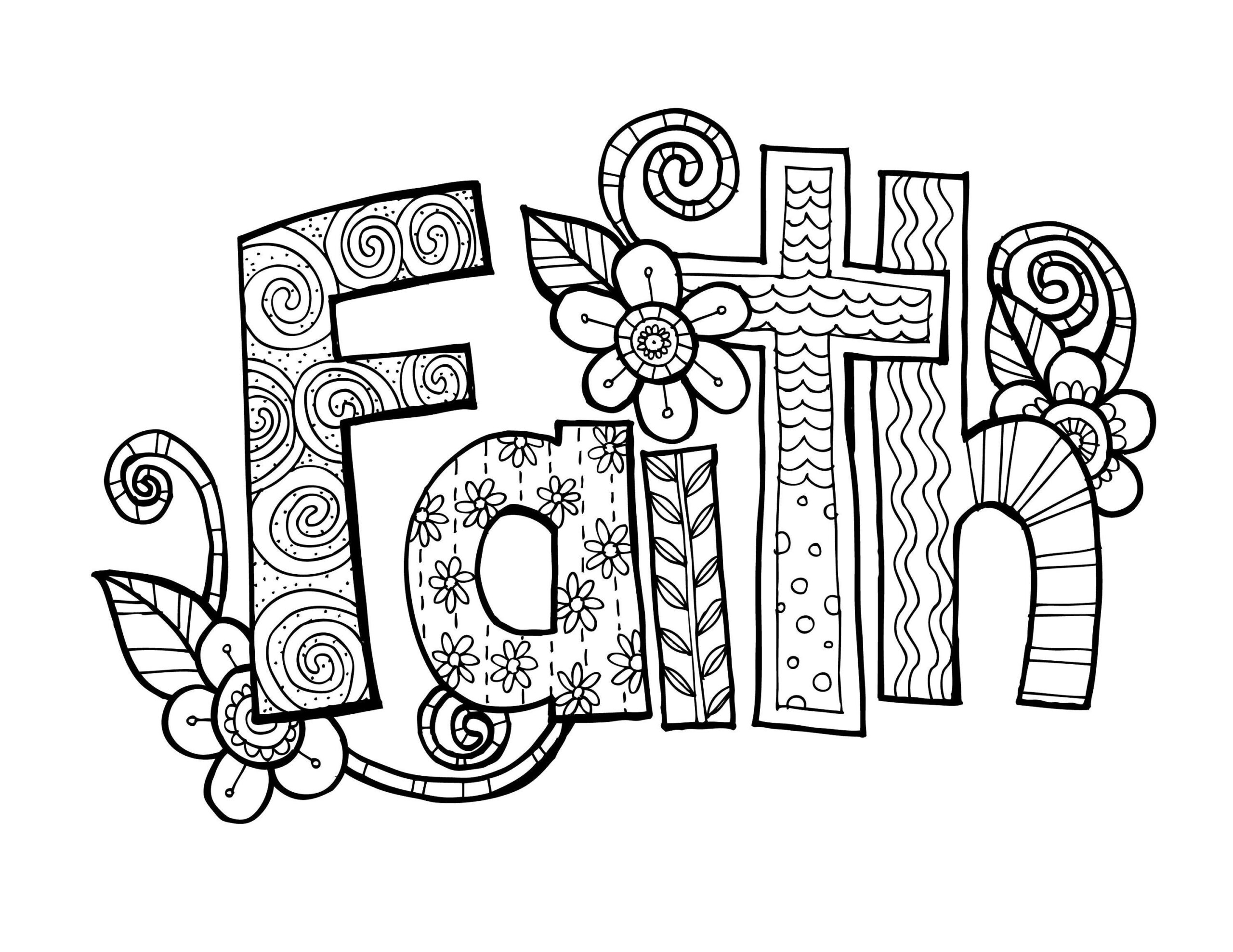 kpm doodles coloring faith etsy doodle whatare the primary colors colorona acrylic paint coloring pages Faith Coloring Page