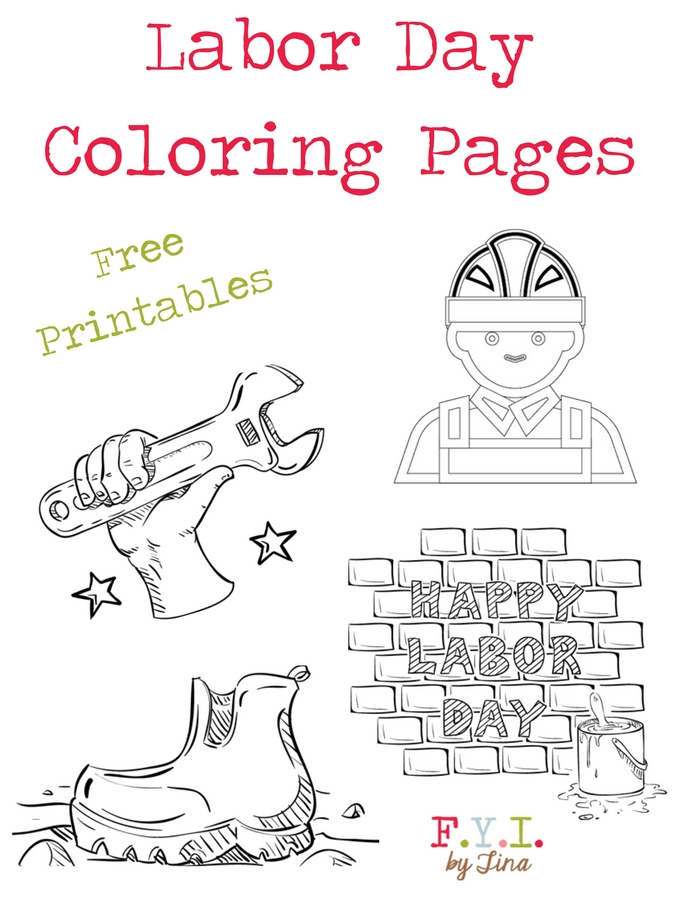 labor coloring free printable fyi by tina printables small spider coloringpage light baby coloring pages Labor Day Coloring Pages Free Printable