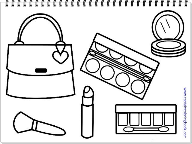 lady accessories coloring in printable makeup printables make up pigg mask fre print coloring pages Make Up Coloring Page
