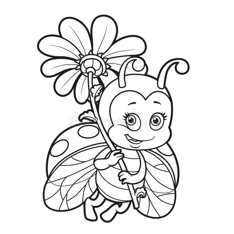 ladybug coloring stock illustrations vectors clipart dreamstime lady bug cute fly big coloring pages Lady Bug Coloring Page