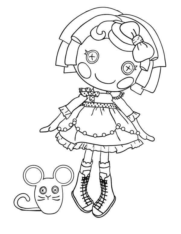 lalaloopsy coloring best for kids baby mermaid crayola repunzel drawing with color cool coloring pages Lalaloopsy Coloring Page