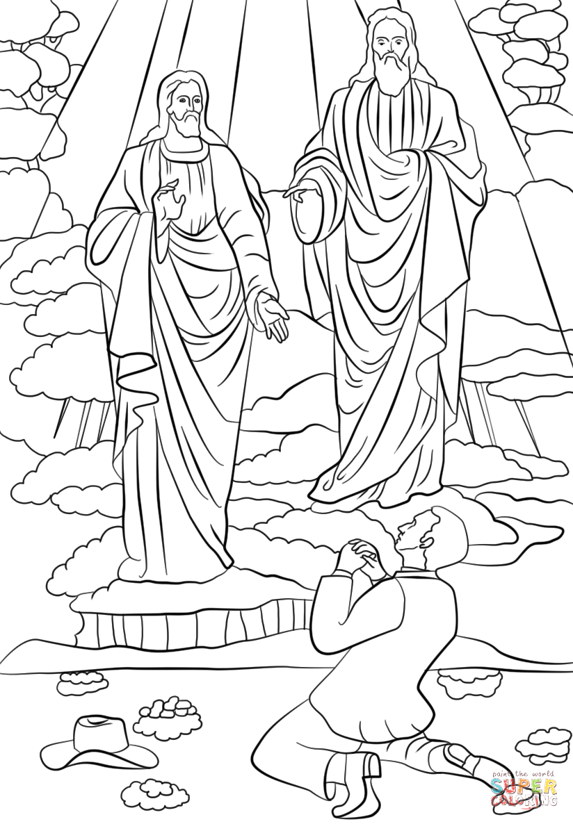 lds coloring joseph first vision camping pdf sheets for teachers christmas print outs coloring pages Joseph Smith First Vision Coloring Page