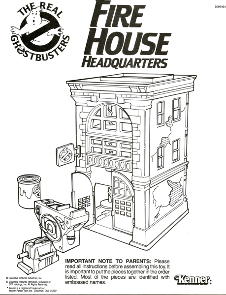lego ghostbusters firehouse coloring firehouseinstructions elmer glue art projects coloring pages Firehouse Coloring Page