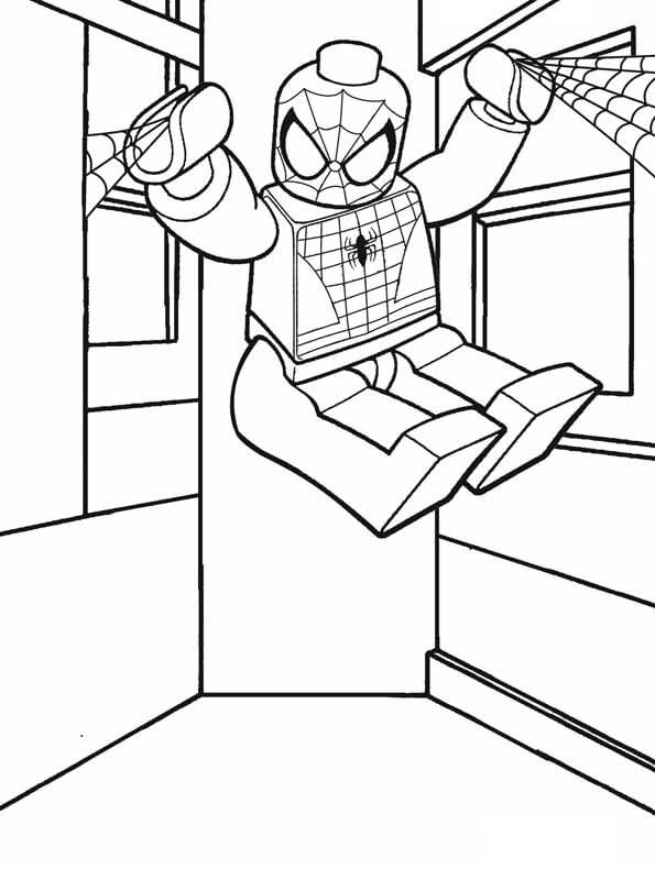 lego spiderman coloring free printable for kids action colering november is putty safe coloring pages Lego Spiderman Coloring Page
