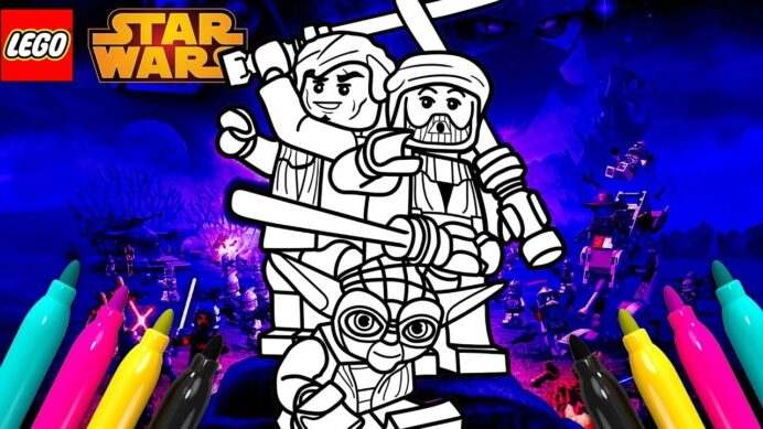 lego star wars iii the clone coloring for kids starwars paint by magic washable markers coloring pages Lego Starwars Coloring Page