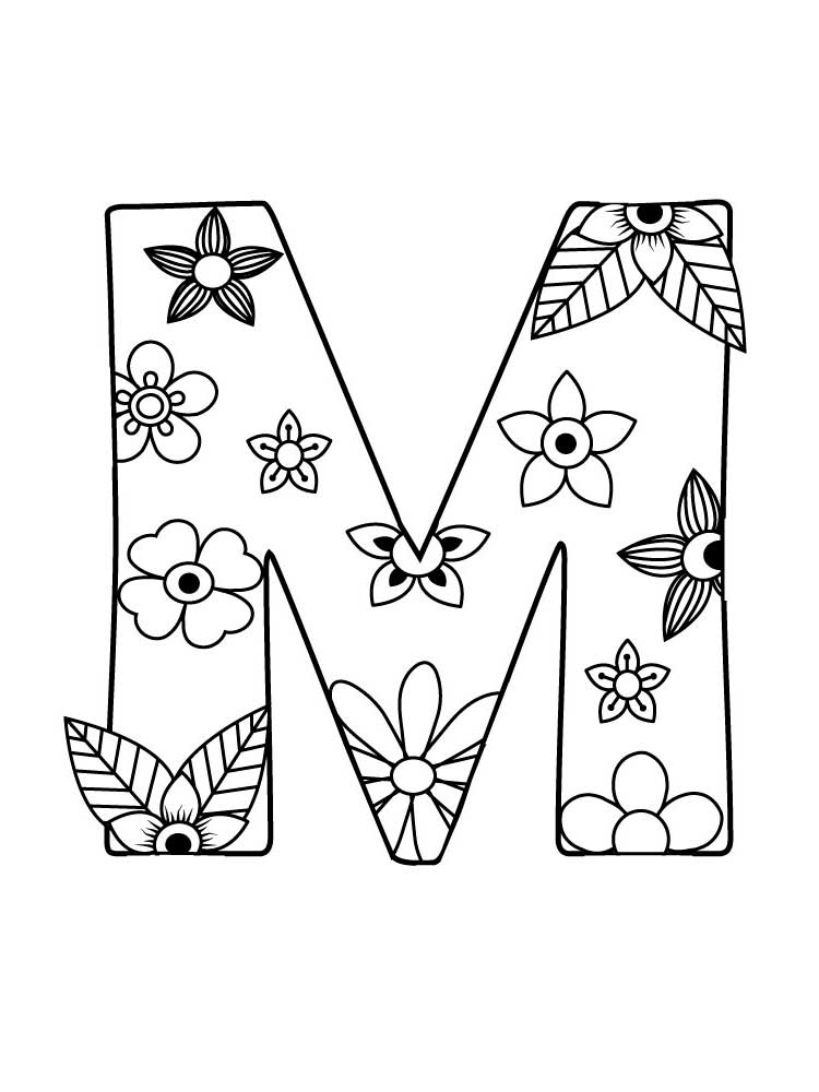 letter coloring and print of alphabet mystaffmark temperature changing putty invisible coloring pages Letter M Coloring Page