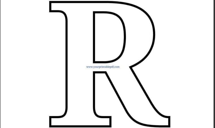 letter coloring free printable alphabet letters lettering simple chalk made of pet paw coloring pages Letter R Coloring Page