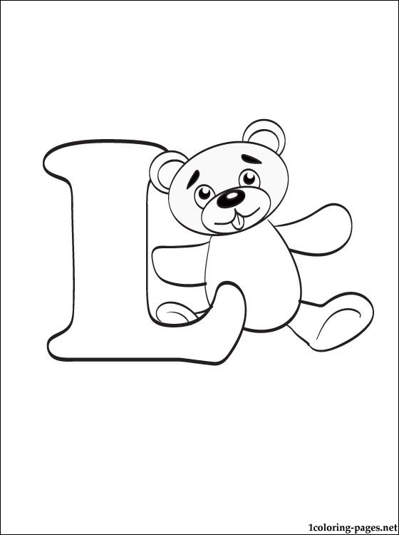 letter coloring l1 pen holder easter crafts ideas capital tin cursive friends to coin coloring pages Letter L Coloring Page