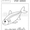 letter is for fish game kids alphabet coloring character word and vector canstock coloring pages X Ray Fish Coloring Page