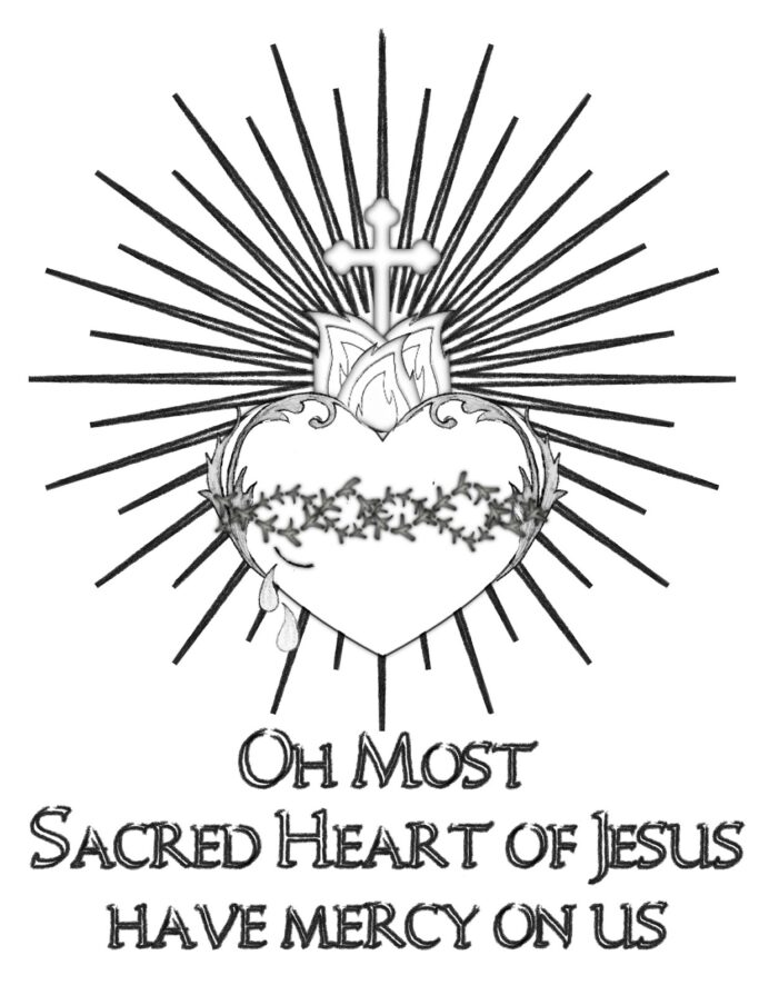 life sacred art free heart of jesus coloring hear june owl coioring sheet twistabe colors coloring pages Sacred Heart Coloring Page