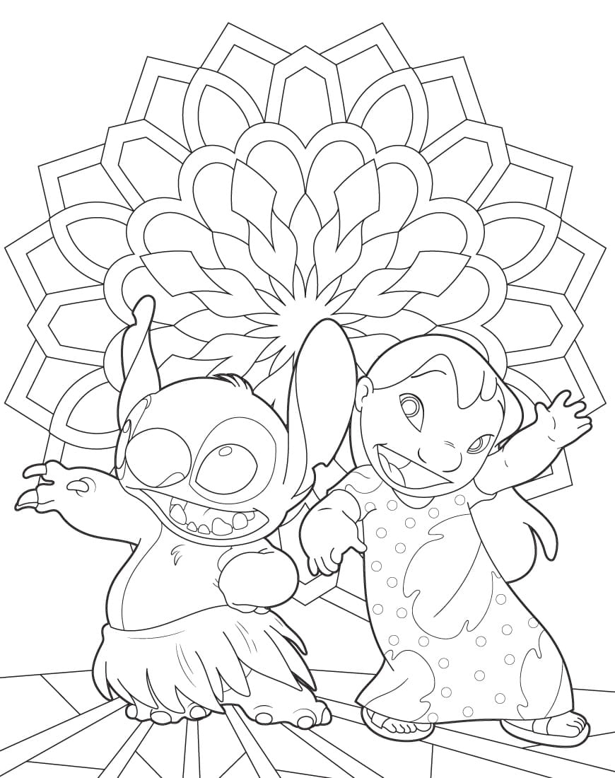 lilo and stitch coloring printable for kids wonder pictures to frame afult easter gifts coloring pages Stitch Coloring Page