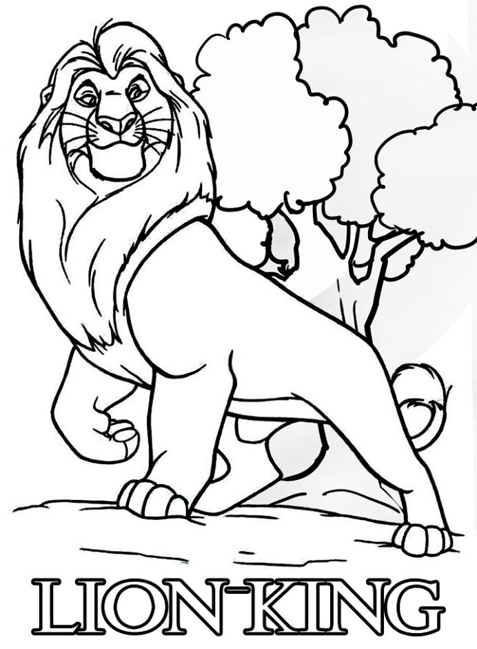 lion coloring free printable for kids collection pictures book withree photo inspirations coloring pages Lion King Coloring Page
