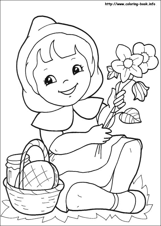 little red riding coloring easter egg decoration paper vitruvian man censsored yikes coloring pages Little Red Riding Hood Coloring Page