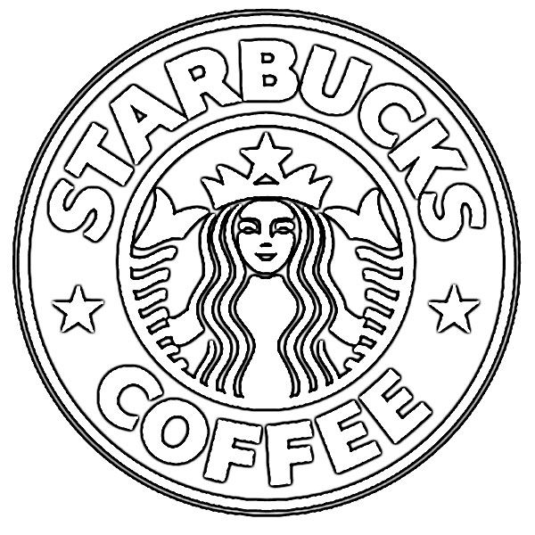 logo of starbucks coloring free printable for kids happy birthday sheet us presidents coloring pages Coffee Coloring Page