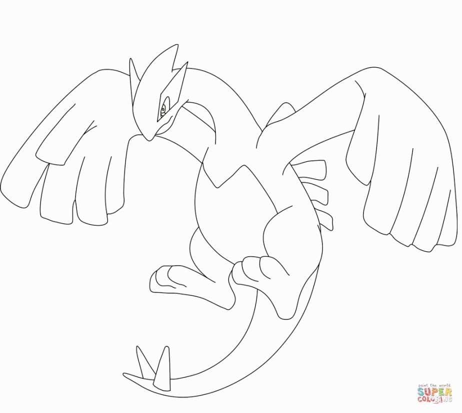 lugia coloring pins mitten outlines crayola coiloring handprint turkety free halloween coloring pages Lugia Coloring Page