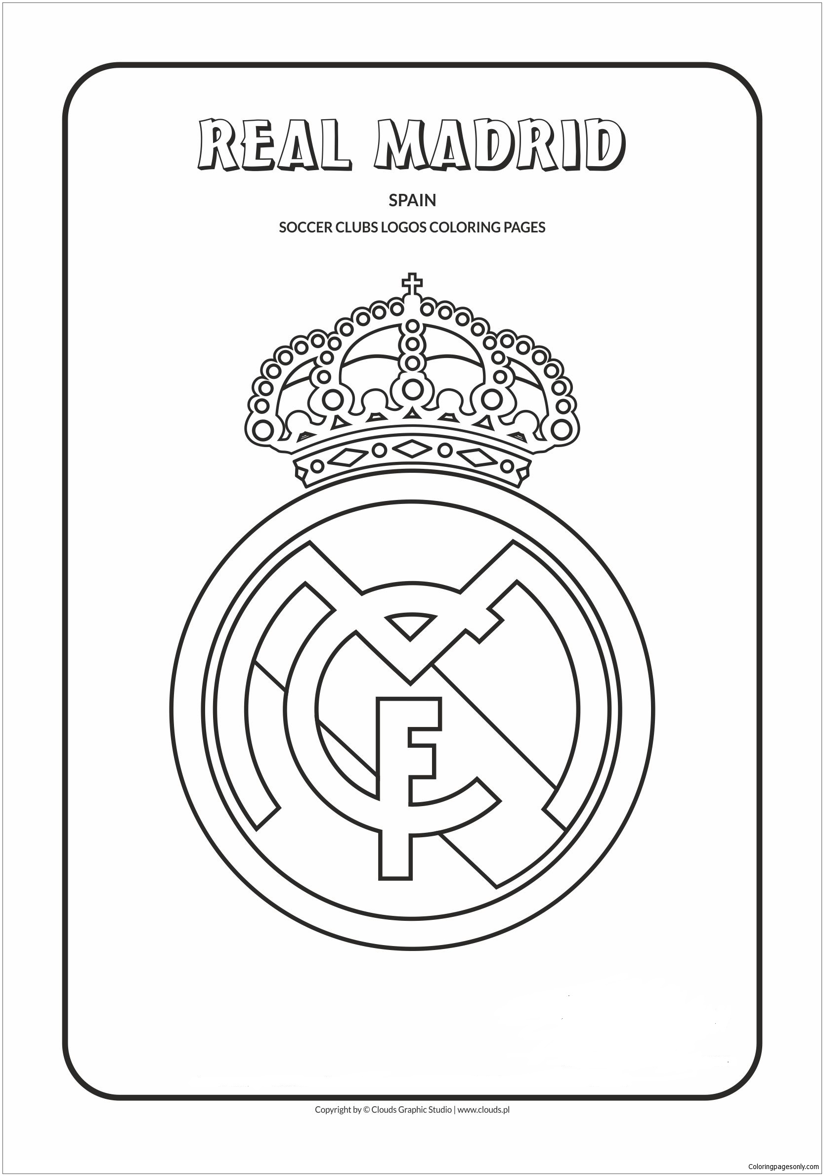 madrid coloring soccer clubs logos for kids and adults barcelona logo madrid00 fabric coloring pages Barcelona Logo Coloring Page
