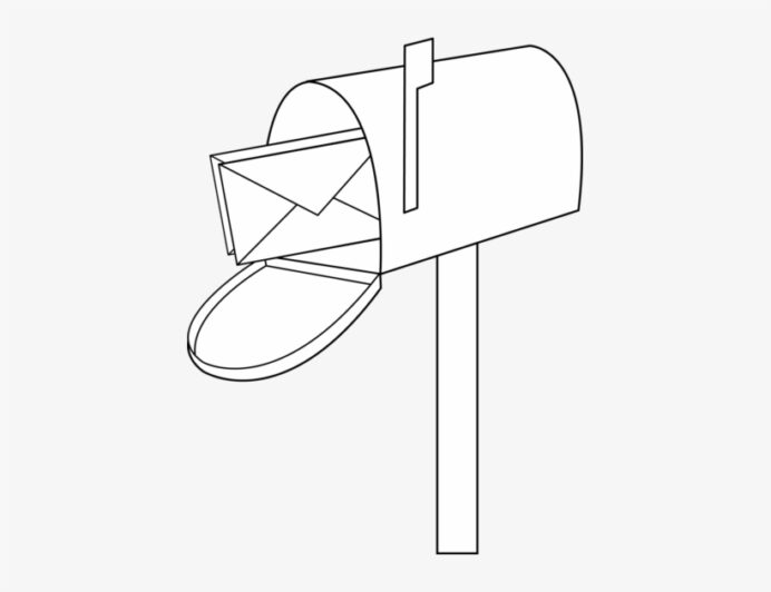 mailbox mail clipart free images image coloring transparent 421x550 on nicepng autumn coloring pages Mailbox Coloring Page