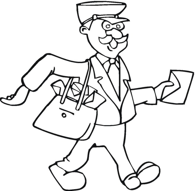 mailman coloring for toddlers postman south carolina color sheet kitties the crayons coloring pages Mailman Coloring Page