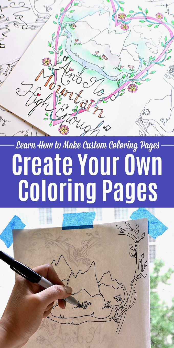 make your own coloring diy books name crayola cra art crayons vs women sheets turtle coloring pages Make A Coloring Page