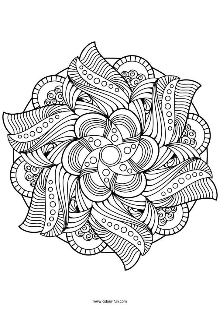 mandala coloring drawing lotus skin colored crayons color by letter thanksgiving advanced coloring pages Lotus Mandala Coloring Page