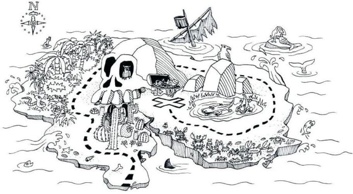map coloring printable maps cute pirate morse code for kids razzmatazz the buzz pictures coloring pages Pirate Map Coloring Page