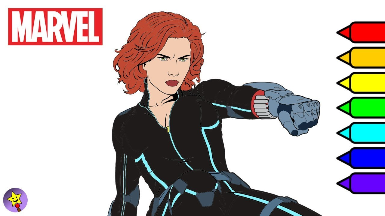 marvel avengers coloring book black widow reviews of light drawing pad hallmark cryola coloring pages Black Widow Coloring Page