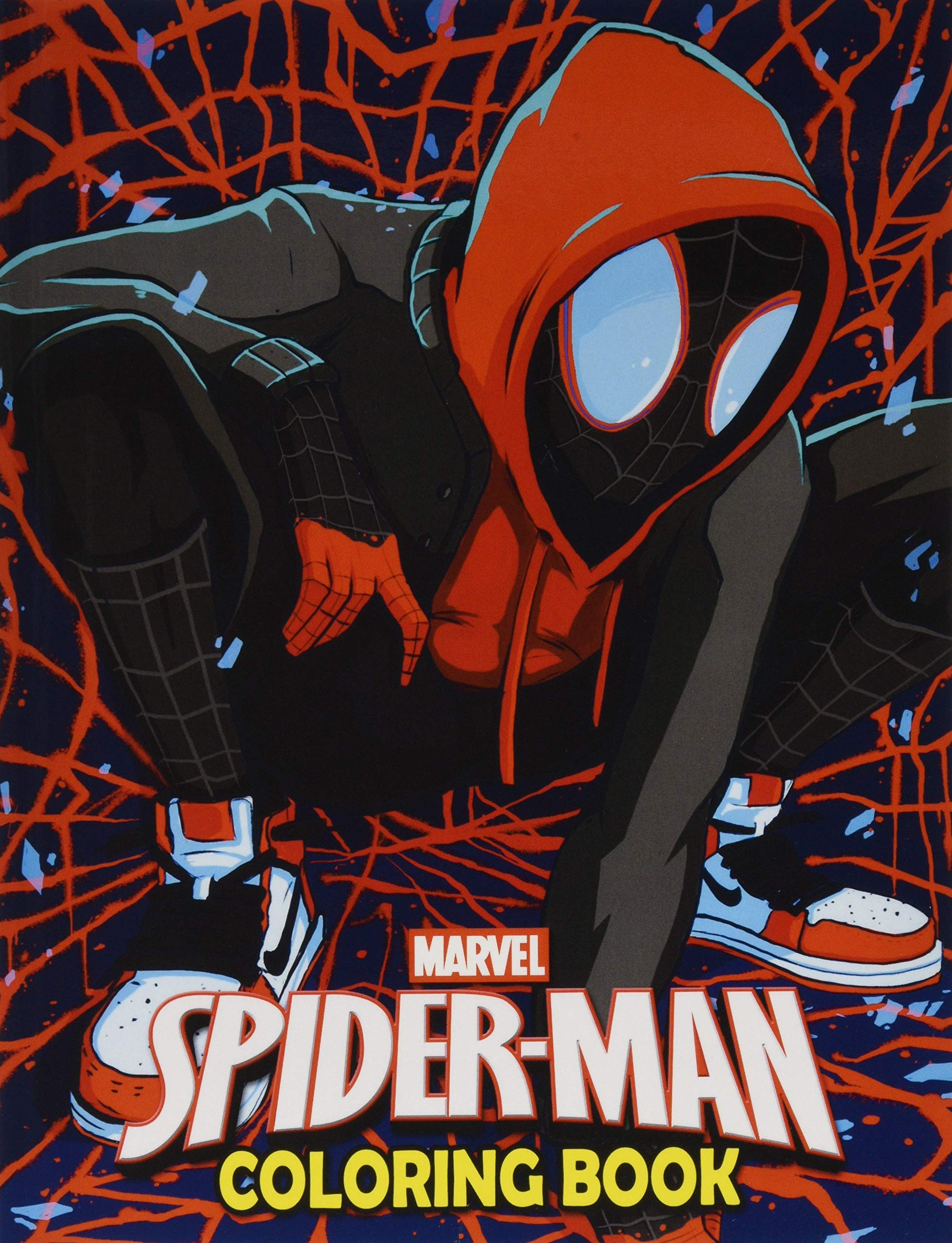 marvel spiderman coloring book spider man illustrations for boys girls great books kids coloring pages Miles Morales Coloring Page