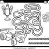 maze with race car coloring black and illustration of education or labyrinth game for coloring pages Race Car Coloring Page