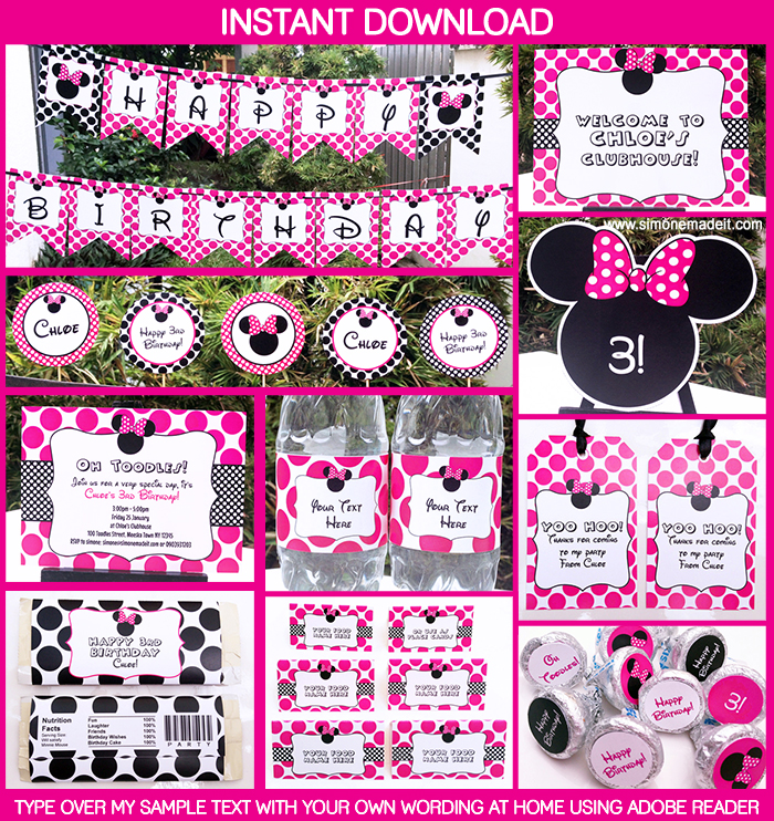 minnie mouse printable birthday party collection free labels mouse21 545x307 coloring two coloring pages Free Printable Minnie Mouse Labels