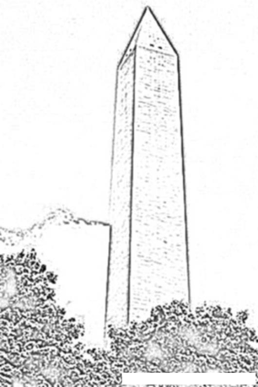 monument coloring monumento para colorear dibujos cholo dibujosa of women bright gree coloring pages Washington Monument Coloring Page