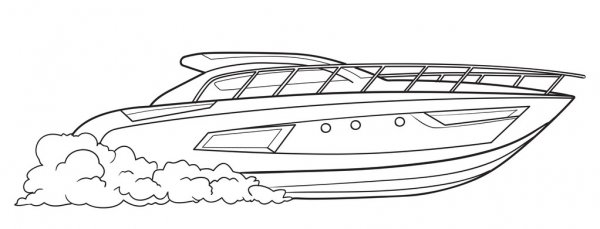 motor boat vector images free royalty vectors depositphotos speed coloring stock coloring pages Speed Boat Coloring Page