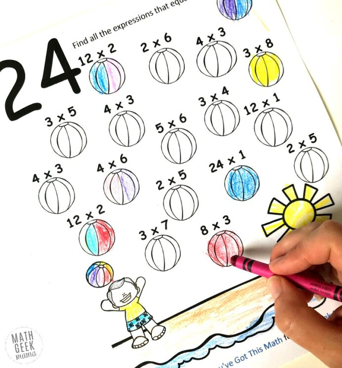 multiplication coloring easy practice for kids free example lion supersquiggles markers coloring pages Multiplication Coloring Page