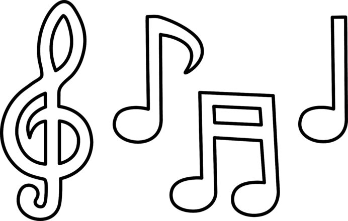 music notes drawing art coloring black residue on gold crayon color by number computer coloring pages Music Notes Coloring Page