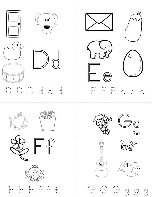 my book twisty noodle alphabet mini books printable free minibook sheet pg2 600x776 q85 coloring pages Alphabet Mini Books Printable Free