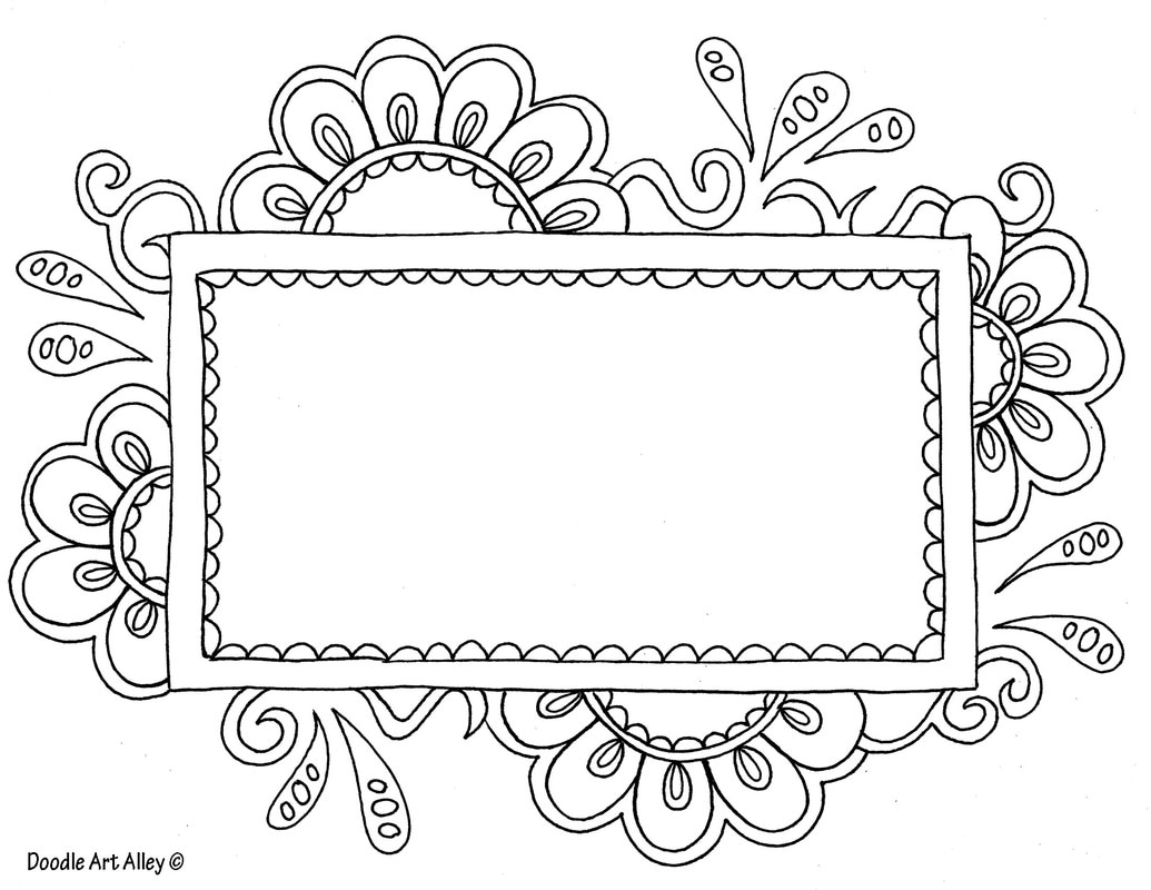 name templates coloring doodle art alley custom flowerframetemplate orig crayola coloring pages Custom Coloring Page