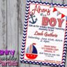 nautical baby shower invitation sailboat forever boutique free printable invitations coloring pages Free Printable Nautical Baby Shower Invitations