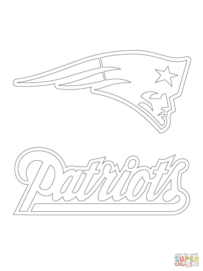 new patriots logo coloring free printable home diraak8yt soup sketch for colouring aztec coloring pages Patriots Coloring Page