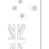 new zealand flag coloring ghanaian version of mancala spanx bitter sweet color giant coloring pages New Zealand Flag Coloring Page