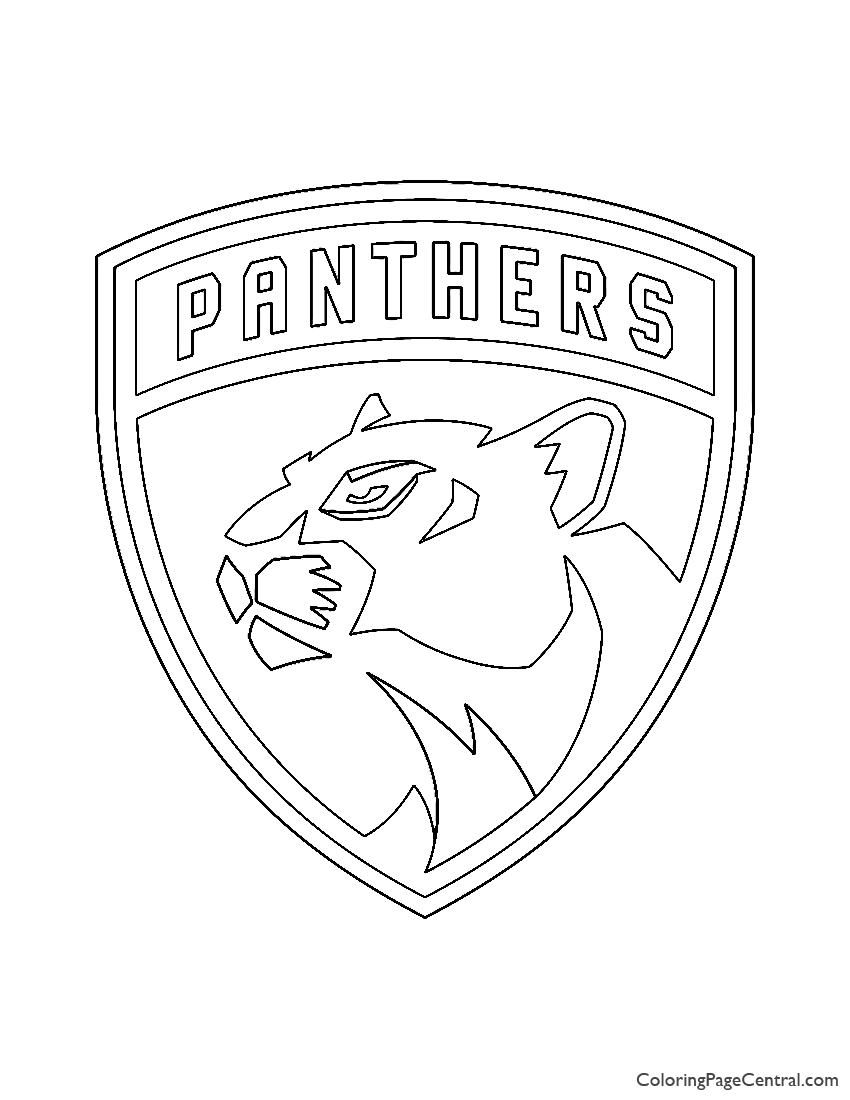 nhl panthers logo coloring central cerulean blue and burgundy microfone decorate coloring pages Florida Coloring Page