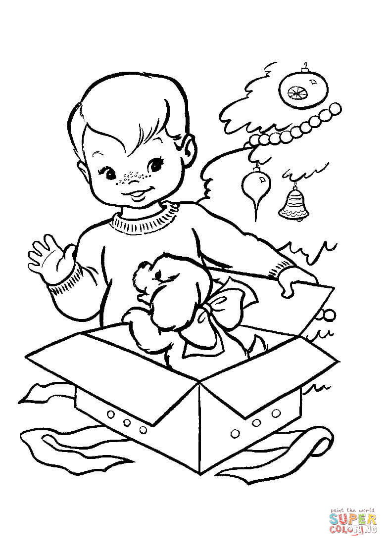 nice christmas gift for little boy coloring free printable one of the nicest gifts can coloring pages Little Boy Coloring Page